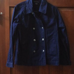 Charter Club Navy Denim Jacket